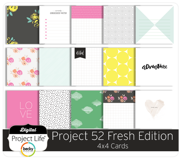 Project 52 Fresh Edition 4x4 Cards