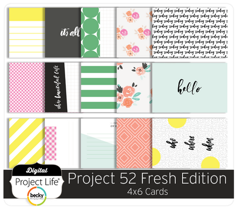 Project 52 Fresh Edition 4x6 Cards