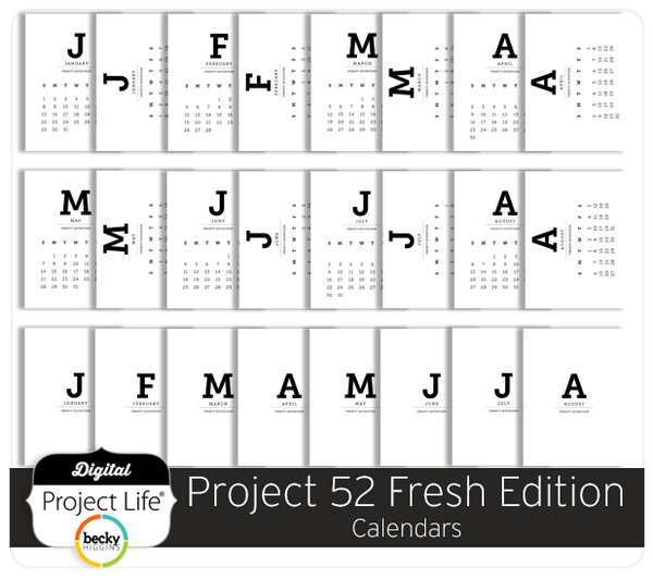 Project 52 Fresh Edition Calendars