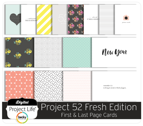 Project 52 Fresh Edition First & Last Page Cards