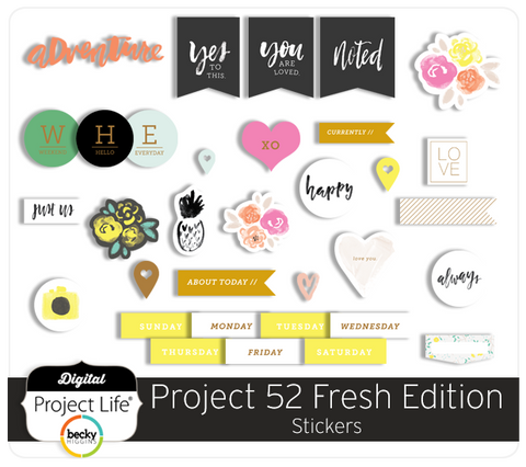 Project 52 Fresh Edition Stickers
