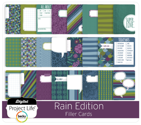 Rain Edition Filler Cards