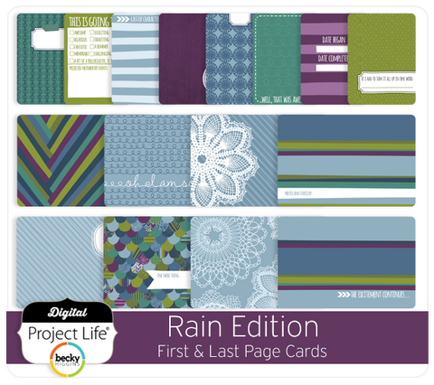 Rain Edition First + Last Page Cards