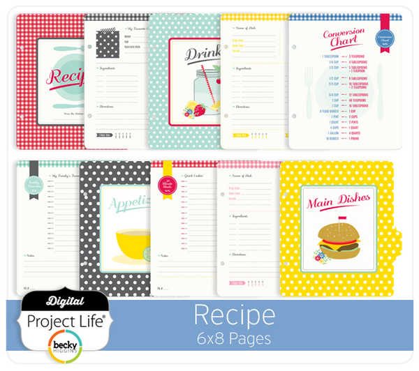 Recipe 6x8 Pages