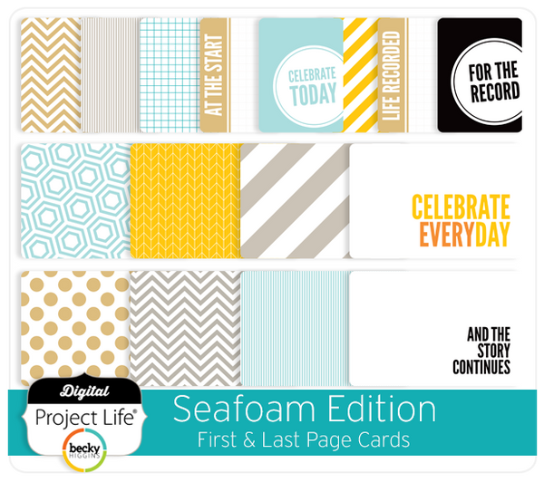 Seafoam Edition First + Last Page Cards