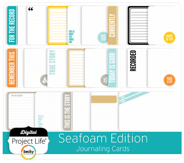 Seafoam Edition Journaling Cards