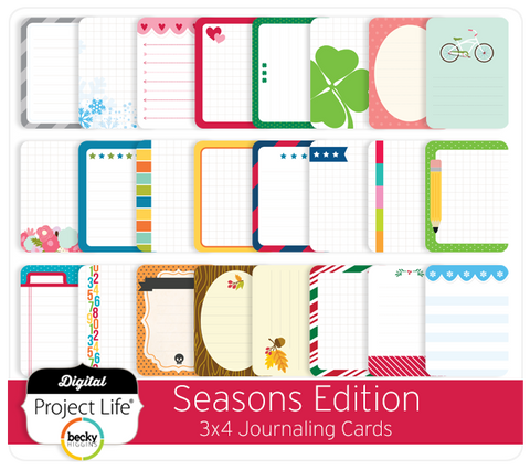 Seasons Edition 3x4 Journaling Cards