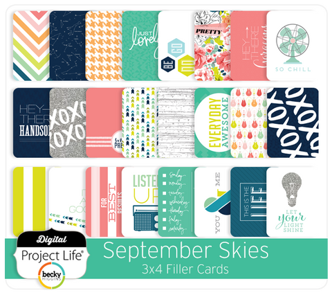 September Skies Edition 3x4 Filler Cards