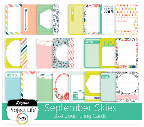 September Skies Edition 3x4 Journaling Cards