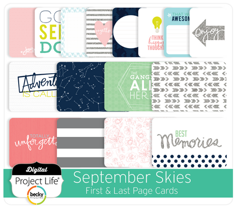 September Skies Edition First & Last Page Cards