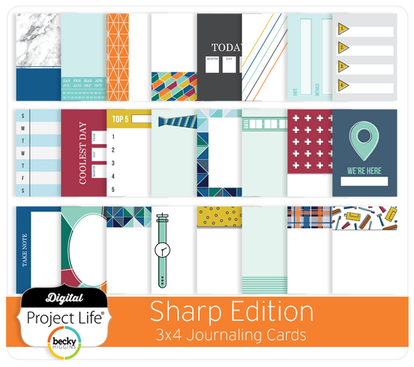 Sharp Edition 3x4 Journaling Cards