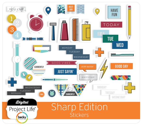 Sharp Edition Stickers