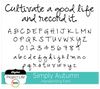 Simply Autumn Handwriting Font