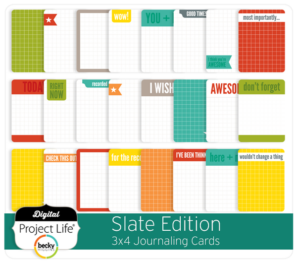 Slate Edition 3x4 Journaling Cards