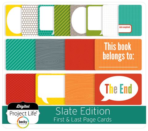 Slate Edition First + Last Page Cards