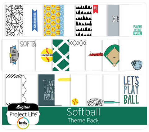 Softball Themed Cards