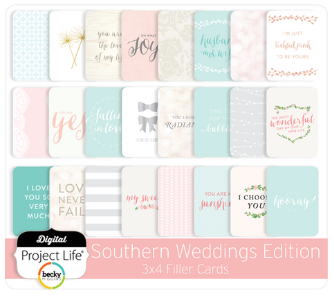 Southern Weddings 3x4 Filler Cards