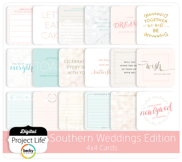 Southern Weddings 4x4 Cards
