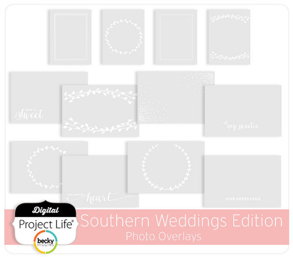 Southern Weddings Edition Photo Overlays