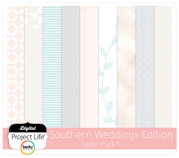 Southern Weddings Paper Pack 1