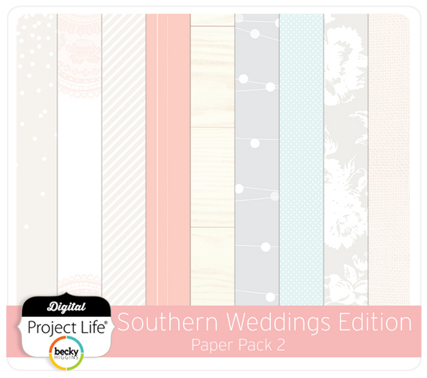 Southern Weddings Paper Pack 2
