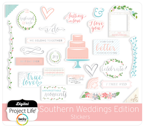 Southern Weddings Edition Stickers
