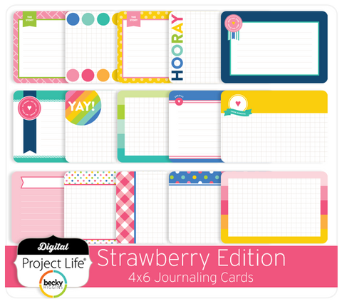 Strawberry Edition 4x6 Bi-Fold Journaling Cards