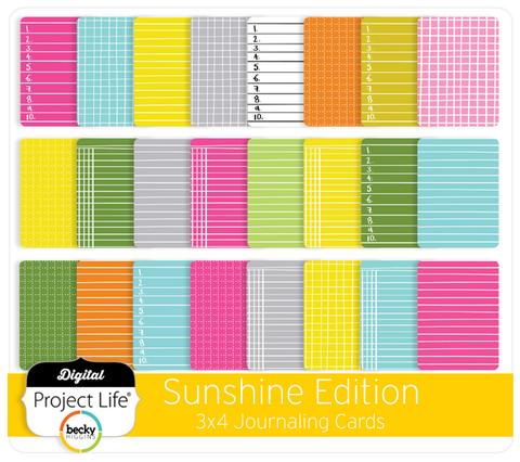 Sunshine Edition 3x4 Journaling Cards