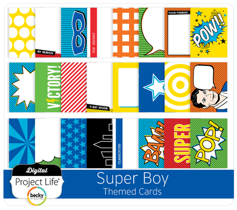 Super Boy Themed Cards