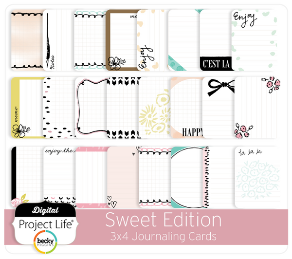 Sweet Edition 3x4 Journaling Cards