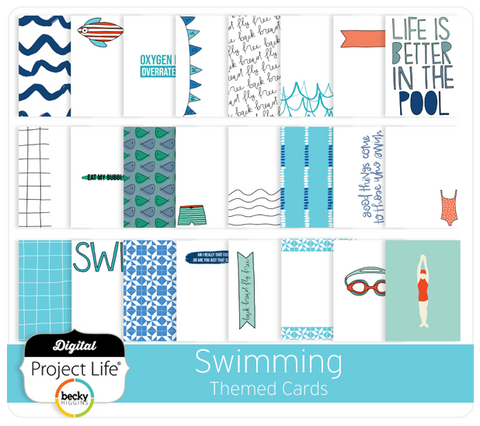 Swimming Themed Cards