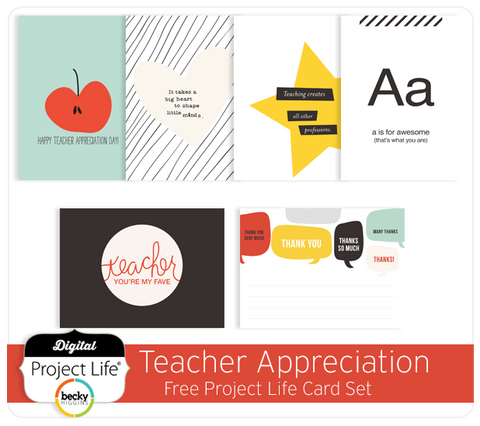 Teacher Appreciation Cards Freebie