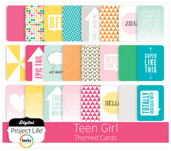 Teen Girl Themed Cards