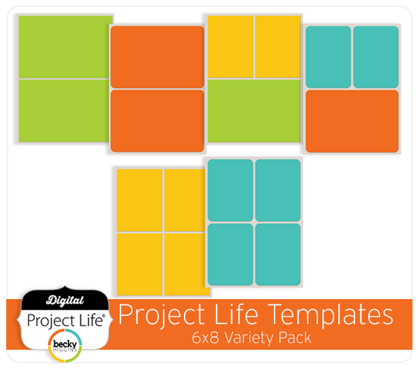 Project Life 6x8 Templates Variety Pack