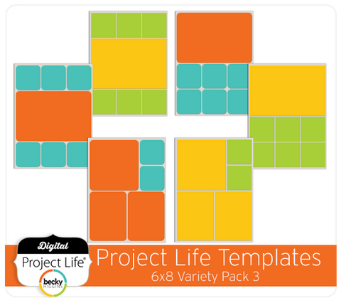 Project Life 6x8 Templates Variety Pack 3
