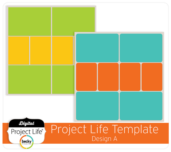 Project Life - Digital Scrapbooking - Template Design A ...