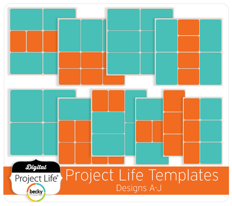 Project Life Templates Designs A-J