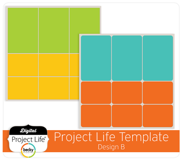 Project Life Template Design B