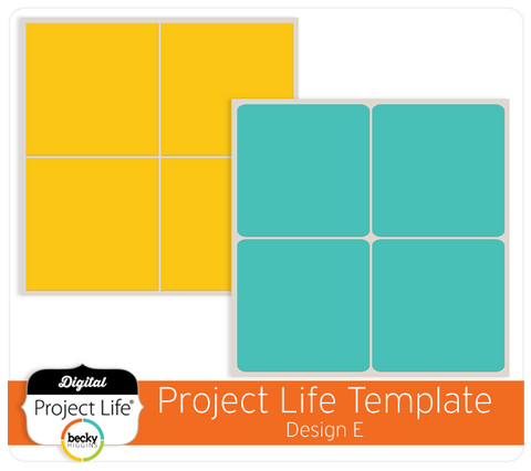 Project Life Template Design E
