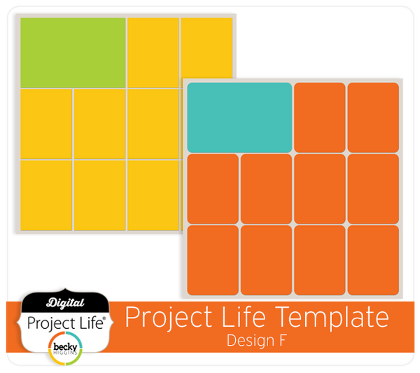 Project Life Template Design F
