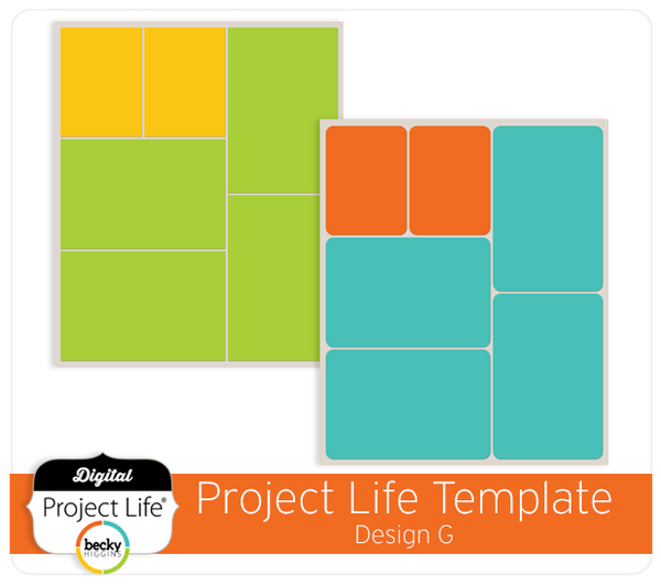 Project Life Template Design G