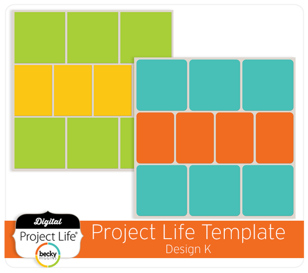 Project Life Template Design K
