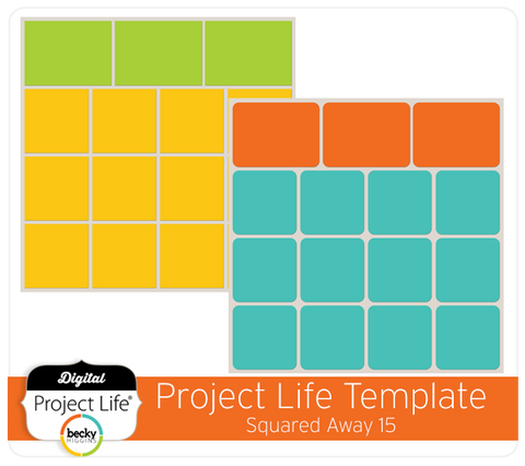 Project Life Template Squared Away 15