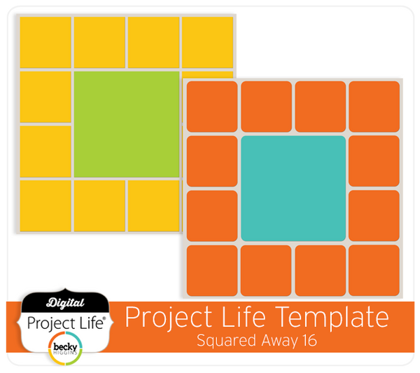 Project Life Template Squared Away 16