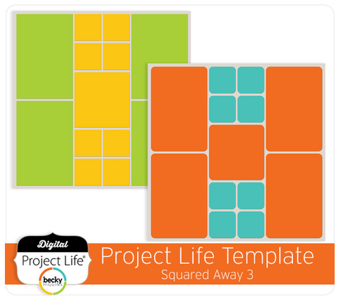 Project Life Template Squared Away 3