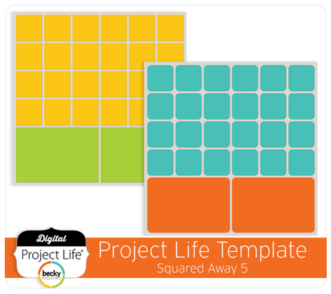 Project Life Template Squared Away 5