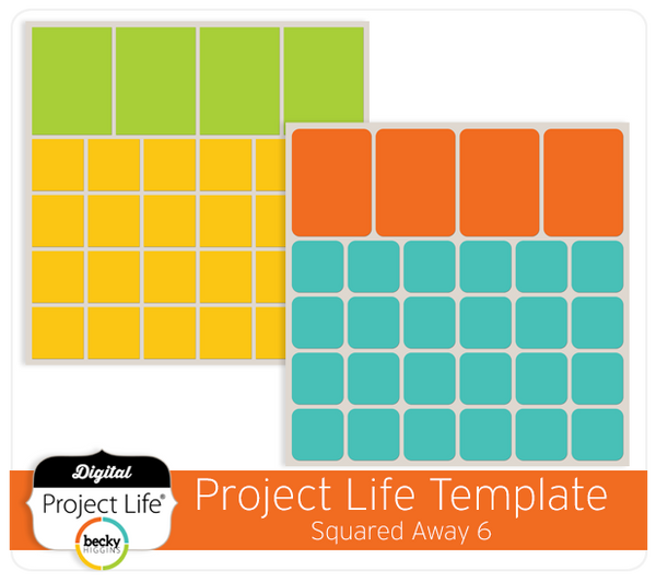 Project Life Template Squared Away 6
