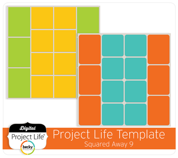 Project Life Template Squared Away 9