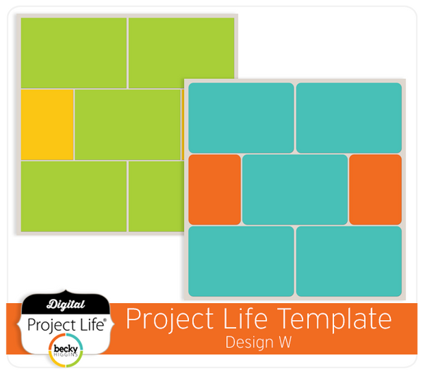 Project Life Template Design W