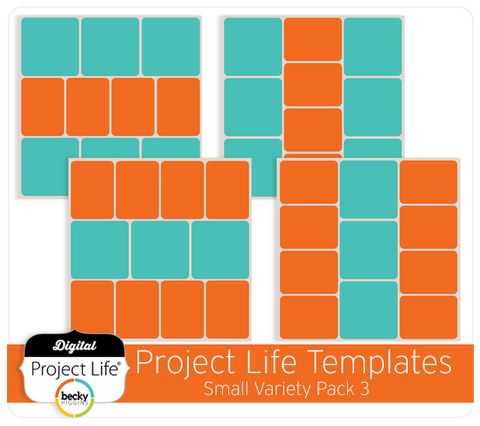 Project Life Templates Small Variety Pack 3